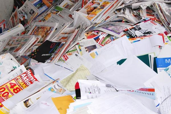 Don't tear the paper! Leave as is, and recycled it will be.