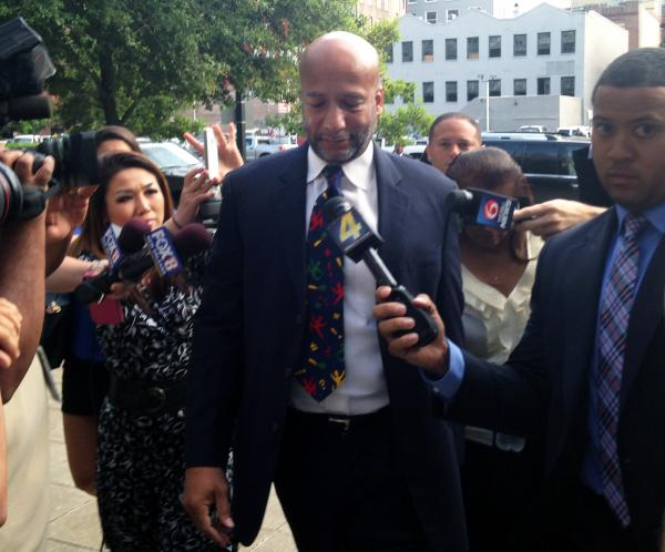 Former New Orleans Mayor C. Ray Nagin entering federal court before his sentencing.