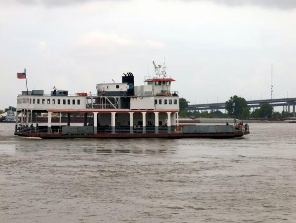 A Mississippi River ferry between Canal Street and Algiers Point.