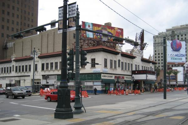 The shuttered State Palace Theatre, seen in 2007.