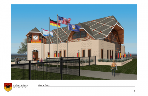 The proposed design of the new Deutsches Haus to be built in the Bayou St. John neighborhood.