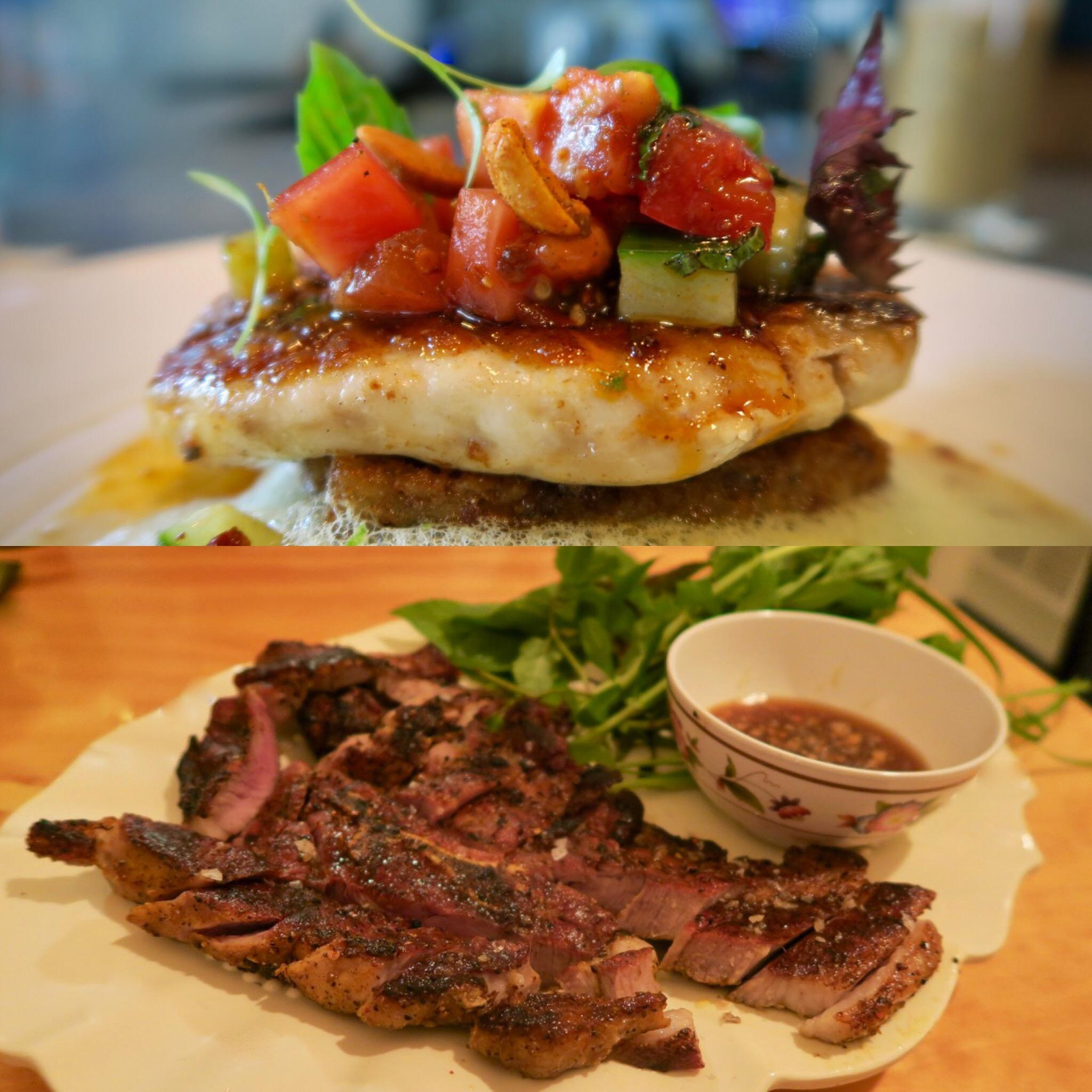 Red Sner From Maypop Top And Char Grilled Pork Steak With Herbs Marjie S Grill Two Innovative New Restaurants In Orleans