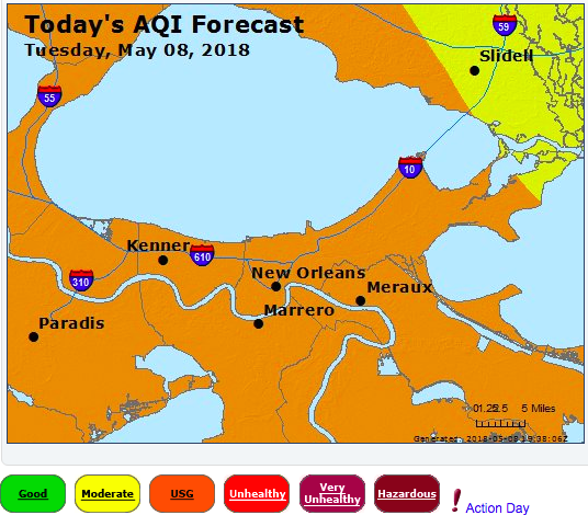 Air Quality Action Day for SW Louisiana
