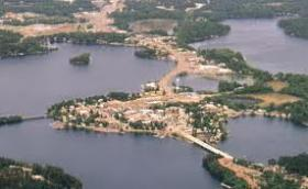 Minocqua from above