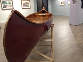 The canoe shown above was built for famed naturalist Sigurd Olson in 1935.