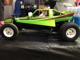 Kids spend three days assembling a remote control dunebuggy.