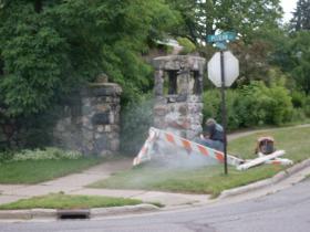 One side of Highview Parkway/Pelican pillars