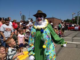 Rhinelander's Fourth of July Parade featured several clowns.