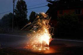 Lighting fireworks at home can be risky.