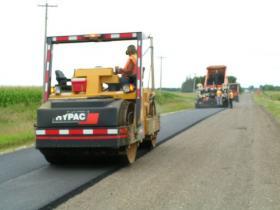 Wisconsin paving crew
