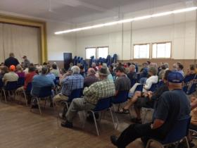 About a hundred people gathered in Hurley Monday night for a public hearing.