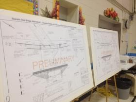 Members of the public also had a chance to review preliminary plans for the replacement of the Bearskin Trail Bridge.