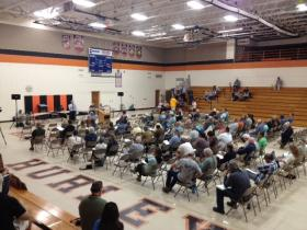 Hundreds showed up at the DNR's public hearing on Gogebic Taconite's preapplication and bulk sampling plan.