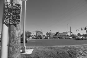 Advertising for health insurance in New Port Richey, Florida.