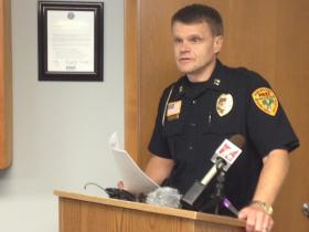 Rhinelander Police Captain Ron Lueneburg gave a press briefing on Monday night's shooting incident.