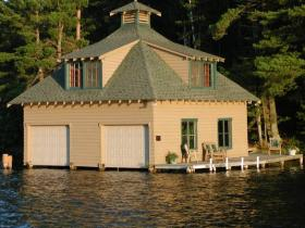 A Northwoods boathouse