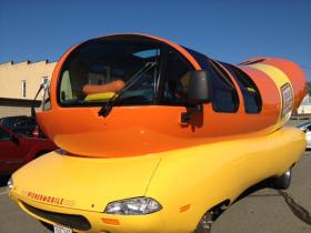 The Wienermobile is in the Northwoods this weekend.