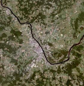 Land-use research often relies on satellite images, like this one of Yaroslavl, Russia.