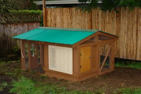 Example of a backyard coop