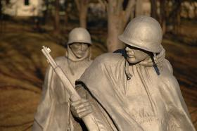 Many Honor Flight participants will head to the Korean War Monument in Washington, D.C.