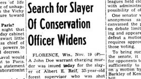 The shooting and death of a state game warden shook up hunters during the 1942 deer hunt.