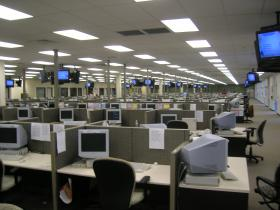 A quiet call center