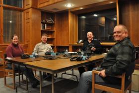 The panel November 14 at the White Pine Room