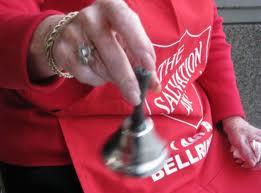 Bell ringers will be out front of stores in the next few weeks.