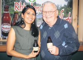Mayor Dick Johns at Rhinelander Brewing event