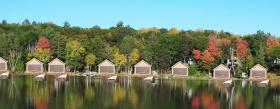 A photoshopped version of what Crescent Lake near Rhinelander might look like if the proposed boathouse changes were enacted. Others disputed this portrayal as not realistic.