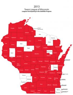 Counties with a Safe Ride Home Program
