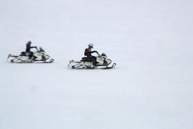 Snowmobile trails need frozen ground and the permission of landowners in order to open.