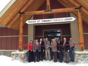 State and local dignitaries attended the ribbon cutting.