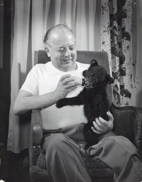 Carl Marty was famous for befriending wild animals at the Northernaire.