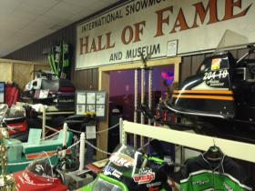 The International Snowmobile Hall of Fame displays dozens of winning snowmobiles in St. Germain.