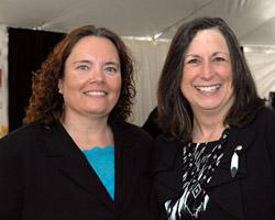 Menominee Nation Chairperson Laurie Boivin(left)