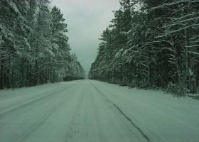 Federal Forest Highway 13 in the Upper Peninsula of Michigan