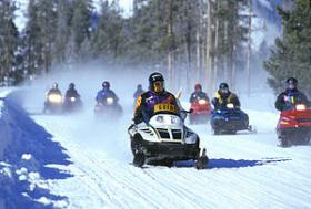 Snowmobiling is becoming increasingly popular in the Northwoods.