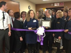 Ministry Health Care's James Beck Cancer Center held a ribbon cutting for the new machine Wednesday.