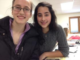 High school seniors Lydia O'Brien and Amber Sheth are captains of the Rhinelander Mock Trial Team.