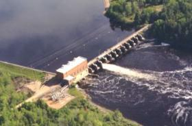 Alexander Hydroelectric Plant On The Wisconsin River