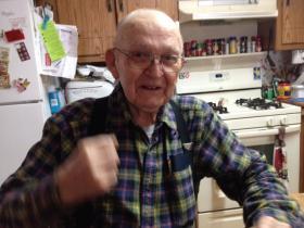 Allen Krueger, 92, lives in Monico, WI.