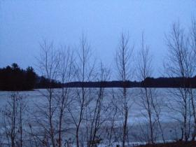 Hoping to spot a crane on the Nokomis Flowage in the early dawn.