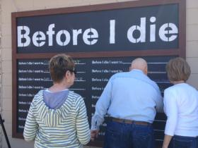 A public art project asks community members what they want to happen in their lifetimes.