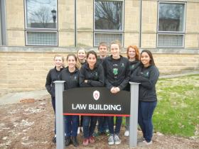 The Rhinelander Mock trial team has been pulling long hours of preparation before the national tournament.
