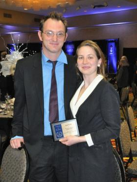 Matthew Rethaber and Natalie Jablonski at WBA's Awards for Excellence