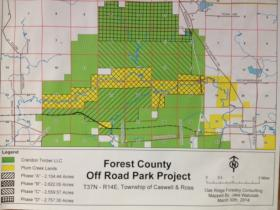 The proposed site is north of Laona and east of Argonne in Forest County.