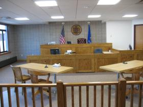 New first floor courtroom