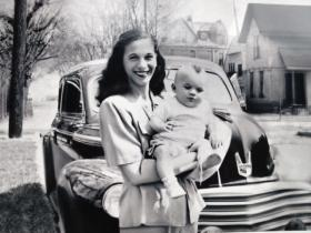 Johnson's wife, Anne, and their son, Kenneth.