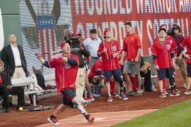 Wounded Warrior Amputee Softball Team in action